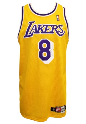 1997-98 Kobe Bryant Los Angeles Lakers Game-Used & Autographed Home Jersey & Single-Signed Sneaker (2)(Full JSAs)