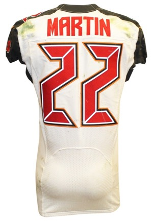 2016 Doug Martin Tampa Bay Buccaneers Game-Used Road Jersey (Unwashed)