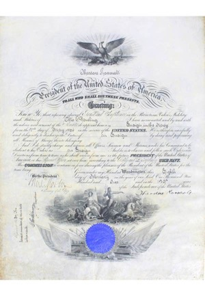 1905 Theodore Roosevelt Autographed Presidential Document (JSA)