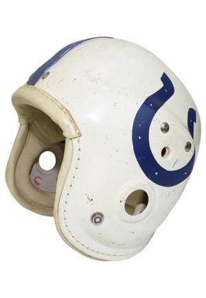 1960s Baltimore Colts Game-Used Geodetic Suspension Helmet