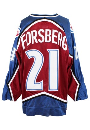 1995-96 Peter Forsberg Colorado Avalanche Game-Used Road Jersey