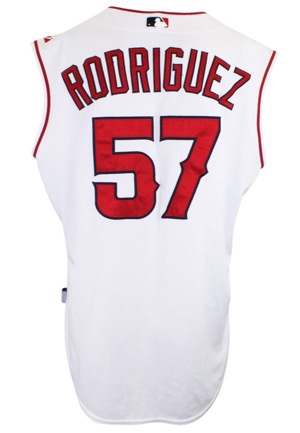 Circa 2008 Francisco Rodriguez Los Angeles Angels Game-Used Home Vest Jersey