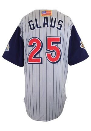 2001 Troy Glaus Anaheim Angels Game-Used Road Jersey