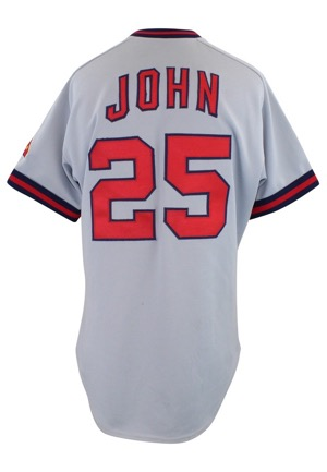 1985 Tommy John California Angels Game-Used Road Jersey