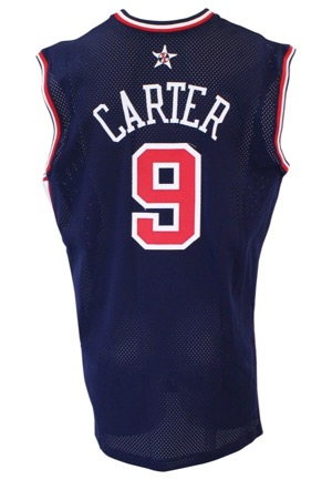 2000 Vince Carter USA Basketball Olympic Game-Used Blue Jersey