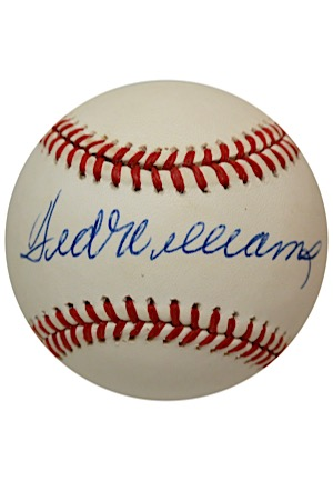 Ted Williams Single-Signed OAL Baseball (JSA)