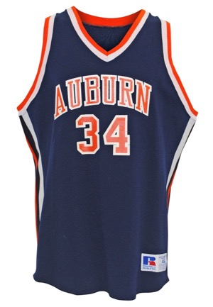 Early 1980s Charles Barkley Auburn University Tigers Game-Used & Autographed Road Jersey (JSA • Sourced From The Equipment Manager • Photo of Barkley Signing)