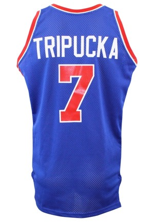 Early 1980s Kelly Tripucka Detroit Pistons Game-Used Road Jersey
