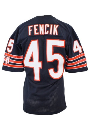 Mid 1980s Gary Fencik Chicago Bears Game-Used Home Jersey