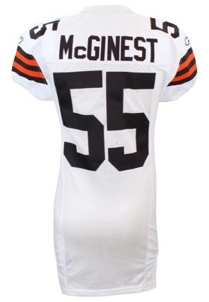 2006 Willie McGinest Cleveland Browns Game-Used Road Jersey (60th Anniversary Patch)