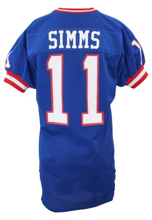 1984 Phil Simms New York Giants Game-Used Home Jersey (Graded 10)