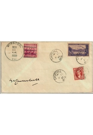 Winston Churchill Autographed First Day Cover Envelope (JSA)