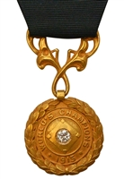 1915 Boston Red Sox Players Championship Medallion & Original Ribbon Presented To Larry Gardner (Family LOA)