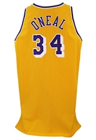 1996-97 Shaquille ONeal Los Angeles Lakers Game-Used & Autographed Jersey (JSA • Lakers LOA)