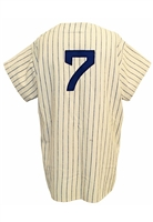 1954 Mickey Mantle NY Yankees Game-Used & Autographed Home Pinstripe Flannel Jersey (Pristine All-Original Condition • Graded A10 By Dave Grob of MEARS Attributing Use To The '53 World Series)