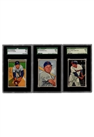 1952 Bowman Baseball Cards Including Kell (3)(SGC Graded NM & NM+)
