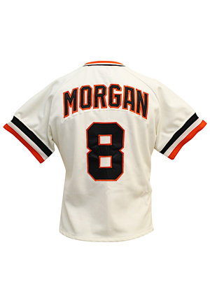 1981 Joe Morgan San Francisco Giants Game-Used & Autographed Home Jersey (JSA • Graded 10 • Custom Tapered To Fit His Frame)