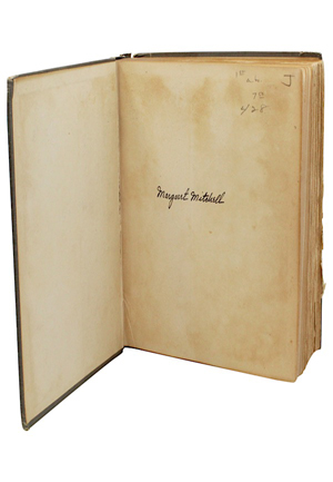 "1936 Margaret Mitchell Autographed ""Gone With The Wind"" First Edition Hardcover Book (Full JSA)"