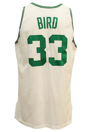 1991-92 Larry Bird Boston Celtics Game-Used Home Jersey