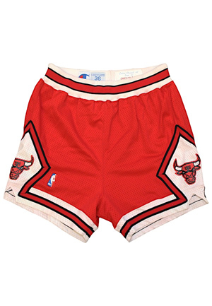 1990-91 Michael Jordan Chicago Bulls Game-Used Shorts (Championship Season • Finals MVP • MVP Season)