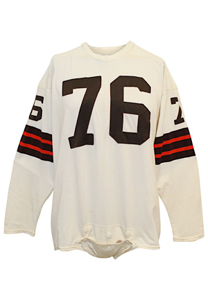 "1964 Lou ""The Toe"" Groza Cleveland Browns NFL Championship Game-Used Jersey (Photo-Matched & Graded 10 • Team Repairs)"