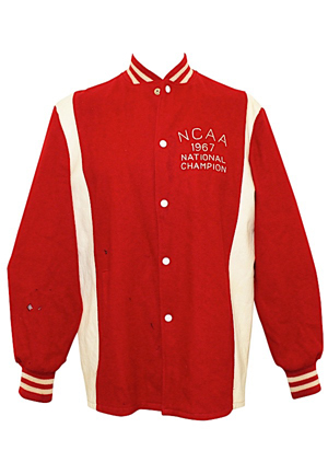 "1967 Earl ""The Pearl"" Monroe Winston Salem NCAA Championship Jacket (Sourced From Monroe)"