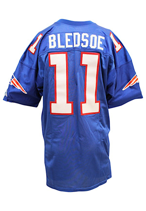 1994 Drew Bledsoe New England Patriots Game-Used Blue Jersey