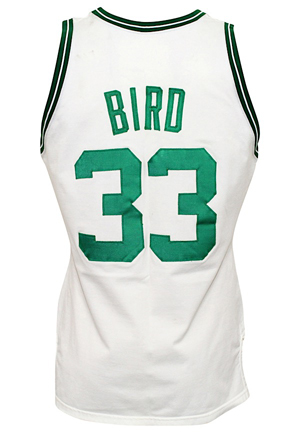 1986-87 Larry Bird Boston Celtics Game-Used Home Jersey (Photo-Matched To Multiple Games Including ECF Triple-Double • Graded A10)