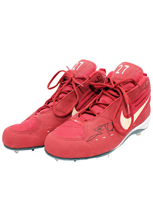 Scott Rolen St. Louis Cardinals Game-Used & Autographed Cleats & Batting Glove (2)(JSA • Cardinals LOA)
