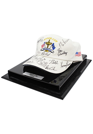 2008 United States Ryder Cup Team-Signed Valhalla Golf Cap (JSA • Originally Gifted By Mickelson)