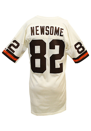 Mid 1980s Ozzie Newsome Cleveland Browns Game-Used White Jersey