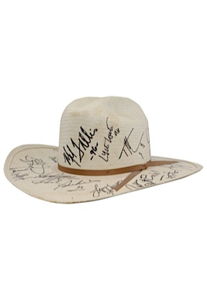 1996 Country Music Multi-Signed Cowboy Hat Including McGraw & Many Others (JSA)