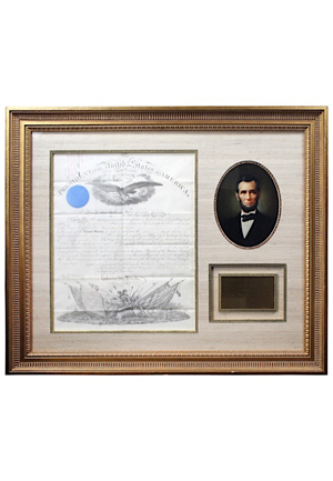 1861 President Abraham Lincoln Autographed Framed Civil War Related Documented (Full JSA • Bold Signature • Originally Part of The Charlie Sheen Collection)