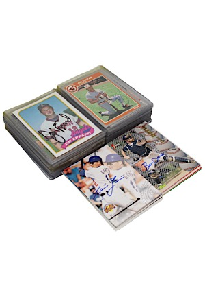 Large Grouping Of Autographed Baseball Cards Including Multiple Vladimir Guerrero (52)(JSA)
