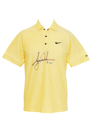"6/15/2007 Tiger Woods ""US Open"" Tournament-Worn & Autographed Golf Polo (JSA • UDA 1 of 1 • Photo-Matched)"