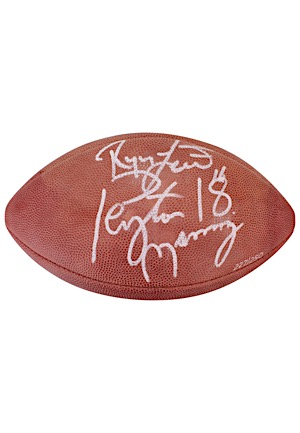 Peyton Manning & Ryan Leaf Dual-Signed LE Wilson Official Football (JSA)