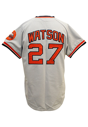 1973 Bob Watson Houston Astros Game-Used Road Jersey (HA Documentation)