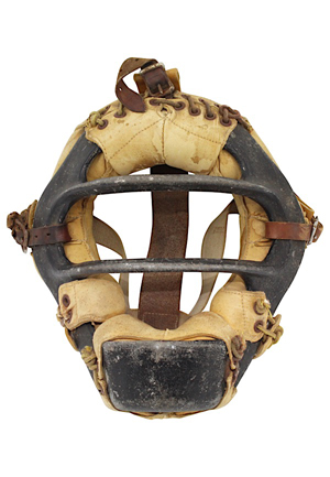 Late 1950s Yogi Berra New York Yankees Game-Used Catchers Mask (JT Sports LOA)