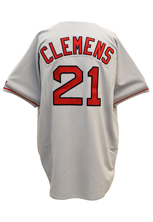 1995 Roger Clemens Boston Red Sox Game-Used Road Jersey