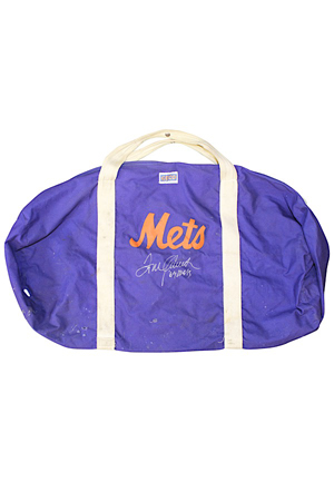 1969 Tom Seaver New York Mets Player Autographed Travel Bag (Full JSA)