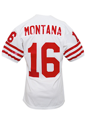 1979-80 Joe Montana San Francisco 49ers Game-Used Rookie Jersey (Graded A10 • Sourced From Equipment Manager Through Lon Lewis • Earliest Fully Documented Career Example)