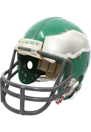 Late 1980s Randall Cunningham Philadelphia Eagles Game-Used Helmet
