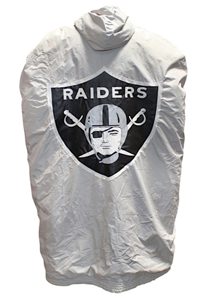 1970s Oakland Raiders Player-Worn Sideline Cape Attributed To Fred Biletnikoff