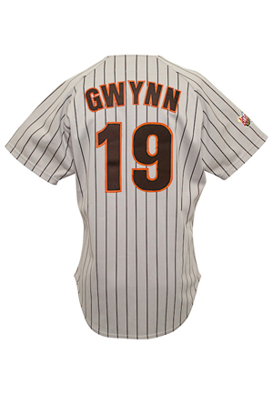 1989 Tony Gwynn San Diego Padres Game-Used & Autographed All-Star Game Jersey (Full JSA • Photo-Matched • Graded 10)