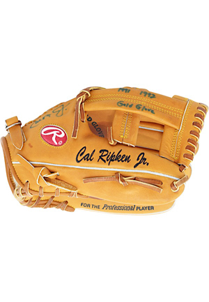 1991-92 Cal Ripken Jr. Baltimore Orioles Autographed & Inscribed Player Model Glove (JSA • MLB Authenticated)