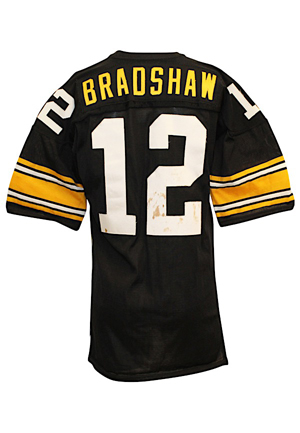 Circa 1978 Terry Bradshaw Pittsburgh Steelers Game-Used Durene Jersey (Gifted Directly To Our Consignor From Bradshaw • Outstanding Condition • Graded 8+)