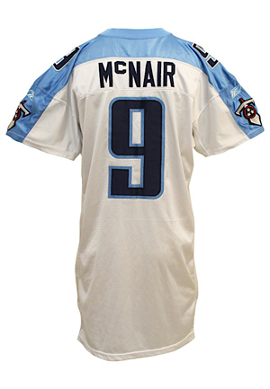 2002 Steve McNair Tennessee Titans Game-Used Jersey