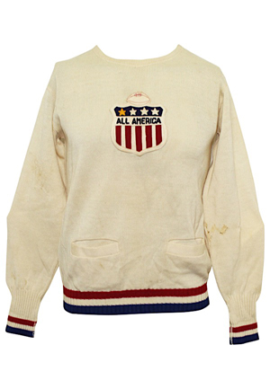 1943 Otto Graham Player-Worn All American College Football Sweater (Graham LOA • Great Condition)
