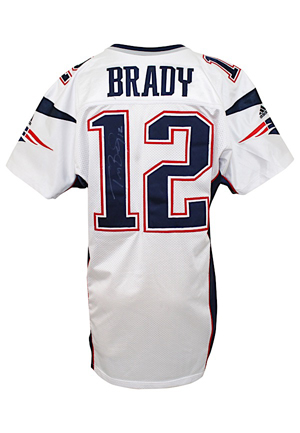 2000 Tom Brady New England Patriots Bench-Worn & Autographed Rookie Jersey (Full JSA)
