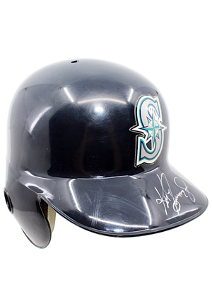 1997 Ken Griffey Jr. Seattle Mariners Game-Used & Autographed Helmet (JSA • MVP Season)